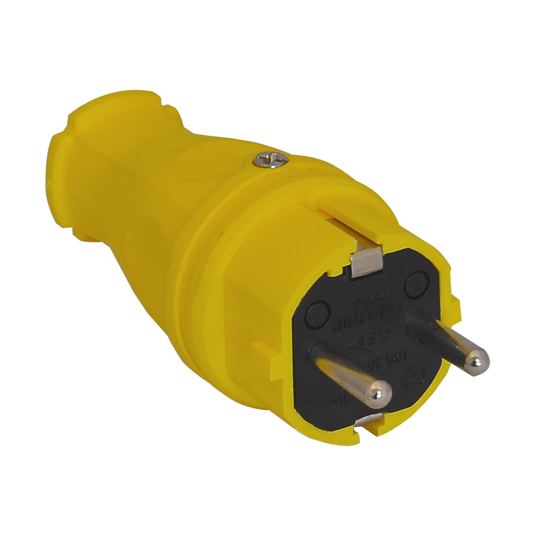 Вилка силовая прямая (ж) 16A/240В/IP44 3101-301-0700