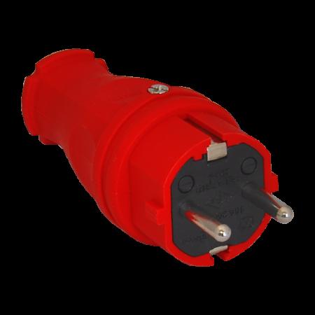 Вилка силовая прямая (к) 16A/240В/IP44 3101-301-1600