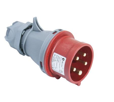 Вилка кабельная переносная 16A/400В/3P+N+E/IP 44 3105-301-1600