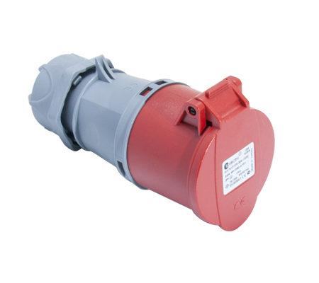 Розетка кабельная переносная 32A/400В/3P+N+E/IP 44 3107-304-1600