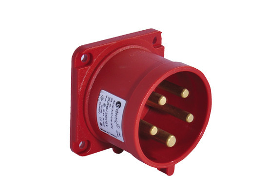 Вилка кабельная панельная прямая 32A/400В/3P+N+E/IP 44 3107-319-1670