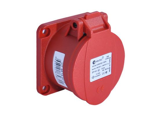 Розетка кабельная панельная прямая 32A/400В/3P+N+E/IP 44 3107-321-1670