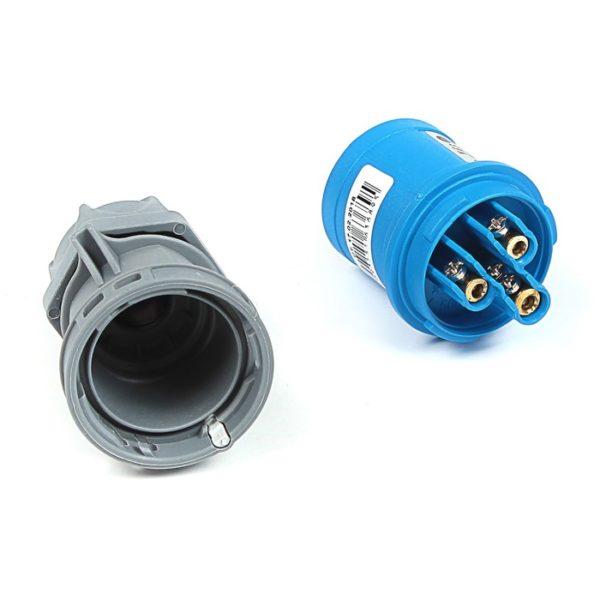 Вилка кабельная переносная 16A/250В/2P+E/IP 44