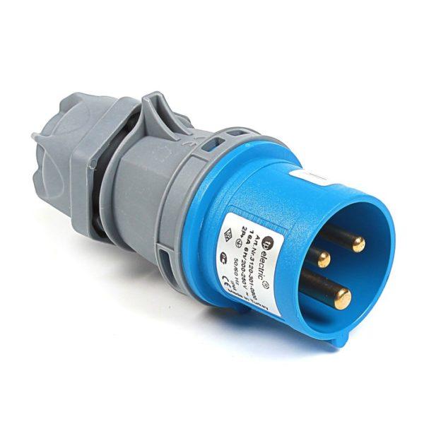 Вилка кабельная переносная 16A/250В/2P+E/IP 44 3120-301-0900