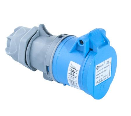 Розетка кабельная переносная 16A/250В/2P+E/IP 44 3120-304-0900