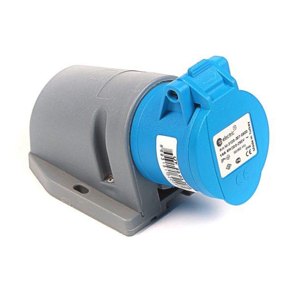 Розетка кабельная настенная 16A/250В/2P+E/IP 44 3120-307-0900