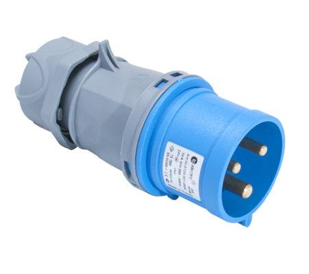 Вилка кабельная переносная 32A/250В/2P+E/IP 44 3124-301-0900