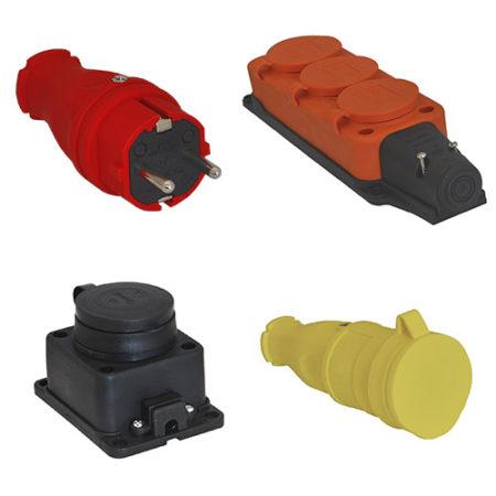 Розетки и вилки каучуковые IP44, IP54