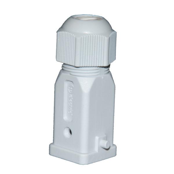 Корпус для промышленного многополюсного разъёма типа HDC 4х10А - 5х10А пластик